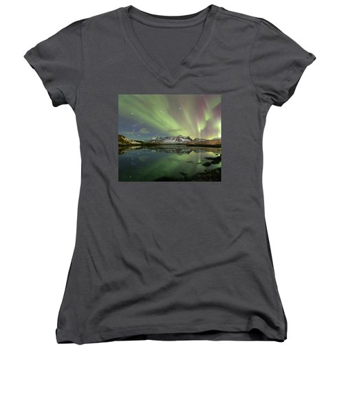 Reflected Lights Women's V-Neck (Athletic Fit)
