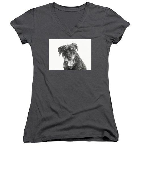 Ruby  Women's V-Neck T-Shirt (Junior Cut) by Meagan  Visser