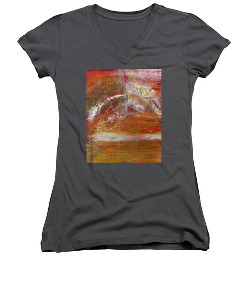 Rusty Rainbow Women's V-Neck (Athletic Fit)