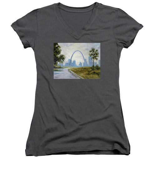 Saint Louis Panorama Women's V-Neck (Athletic Fit)