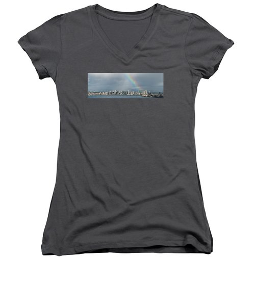 Women's V-Neck (Athletic Fit) featuring the photograph San Diego by Dan McGeorge