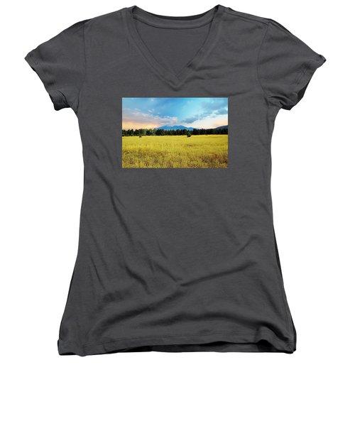 San Francisco Peaks  Women's V-Neck T-Shirt