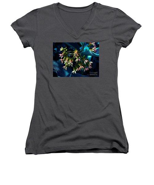 Satin Women's V-Neck T-Shirt (Junior Cut) by Elfriede Fulda