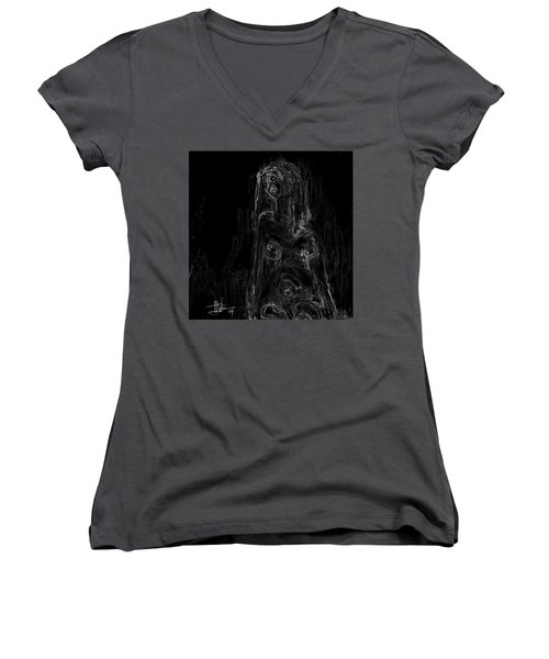 Seated Nude Women's V-Neck T-Shirt
