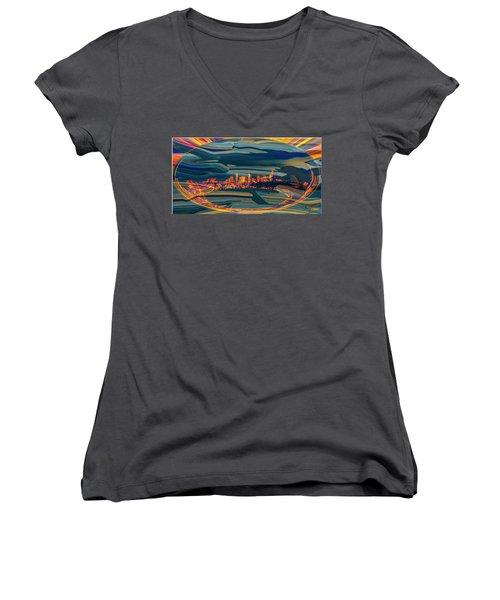 Seattle Swirl Women's V-Neck T-Shirt