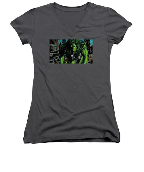 She-hulk Women's V-Neck