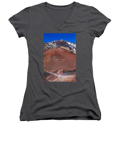 Size Matters Women's V-Neck T-Shirt (Junior Cut) by Giuseppe Torre