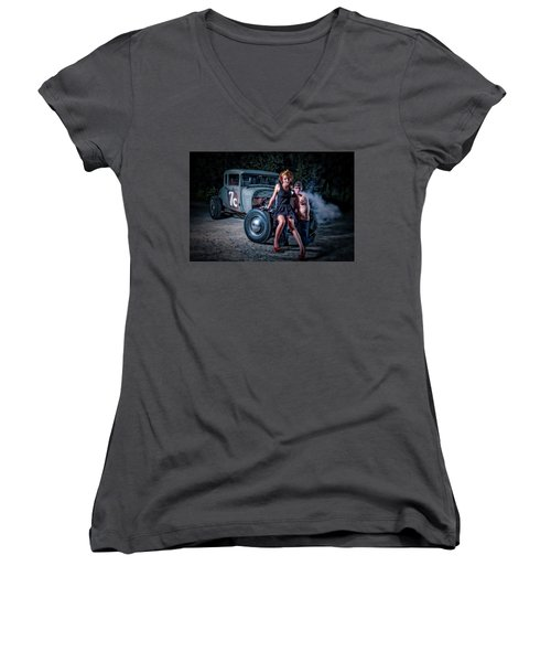 Smoke Women's V-Neck T-Shirt