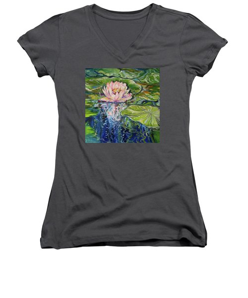 Solitude Waterlily Women's V-Neck (Athletic Fit)