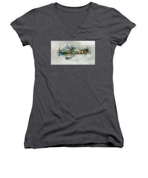 Spitfire Women's V-Neck T-Shirt