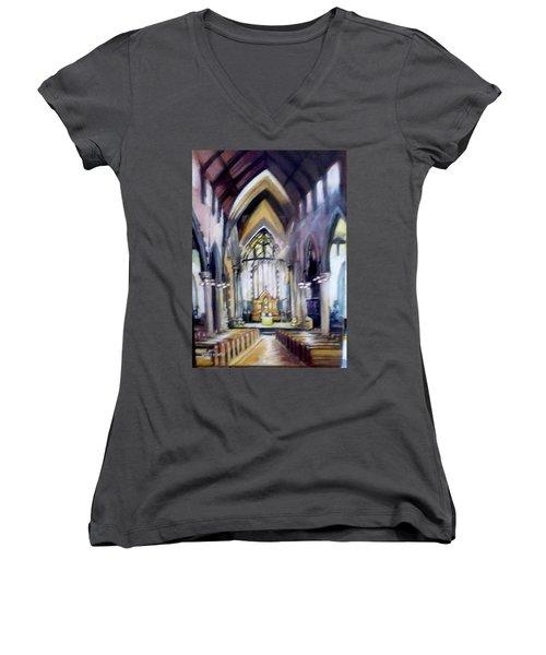 St Johns Cathedral Limerick Ireland Women's V-Neck T-Shirt