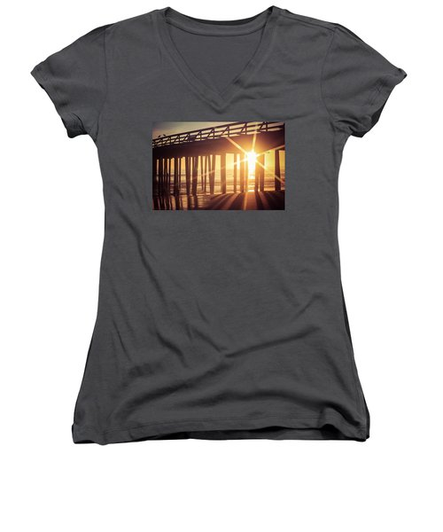 Women's V-Neck T-Shirt featuring the photograph Star by Lora Lee Chapman
