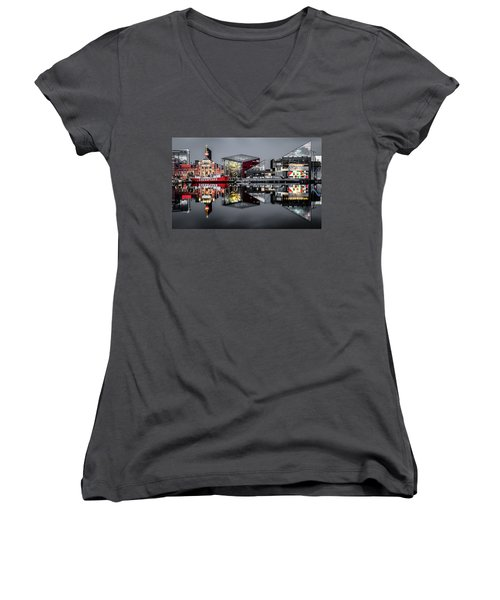Stormy Night In Baltimore Women's V-Neck T-Shirt