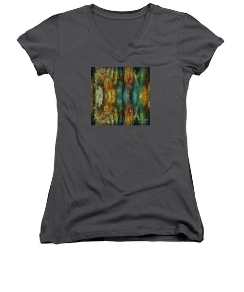 Stuck In The Middle Women's V-Neck T-Shirt (Junior Cut) by Jim  Hatch