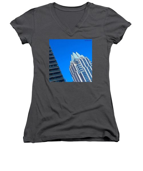 Such A Perfect #bluesky Day In Women's V-Neck (Athletic Fit)
