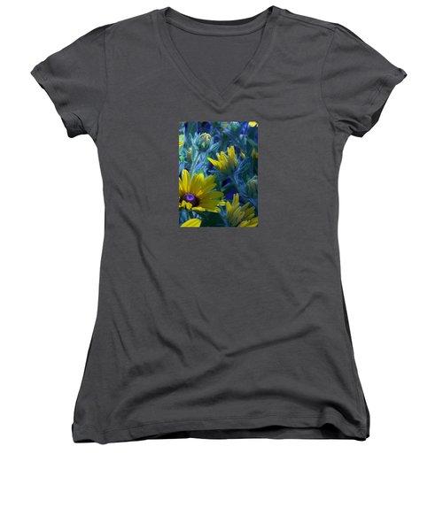 Sun Glory Series Women's V-Neck T-Shirt (Junior Cut) by Marika Evanson