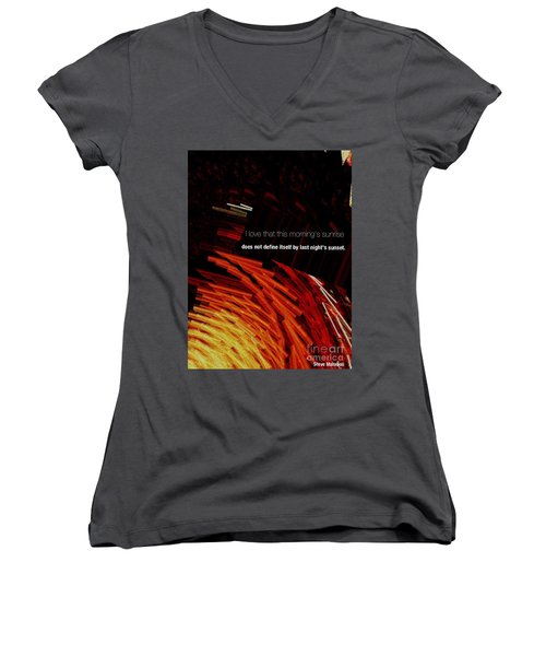 Sunrise Women's V-Neck (Athletic Fit)