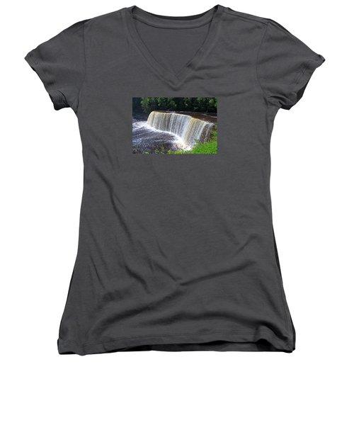 Tahquamenon Upper Falls IIi Women's V-Neck T-Shirt