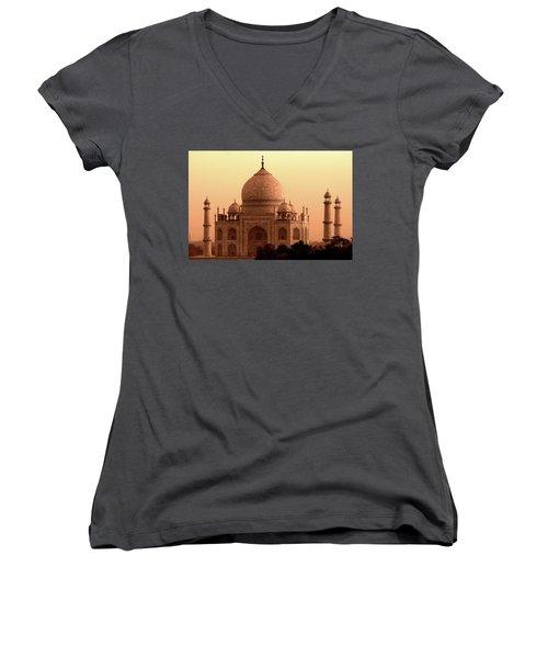 Taj Mahal Women's V-Neck T-Shirt (Junior Cut) by Aidan Moran