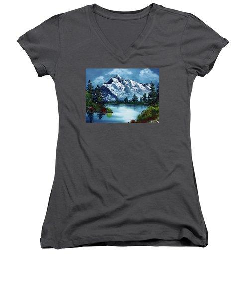 Take A Breath Women's V-Neck T-Shirt