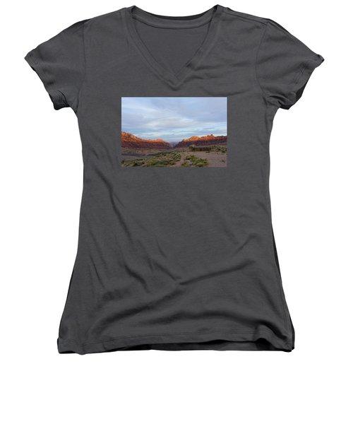 The Castles Near Green River Utah Women's V-Neck