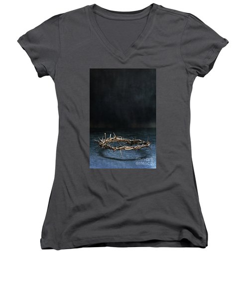 The Crown Of Jesus Christ Women's V-Neck (Athletic Fit)