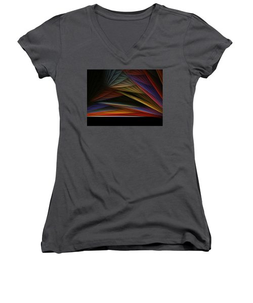 The End Of A Beautiful Day Women's V-Neck (Athletic Fit)
