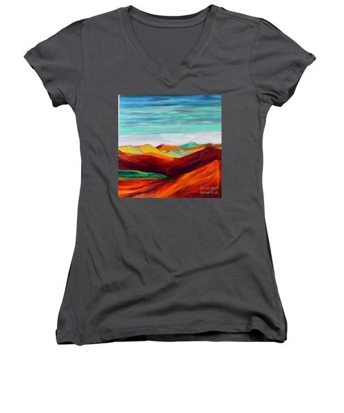 The Hills Are Alive Women's V-Neck (Athletic Fit)