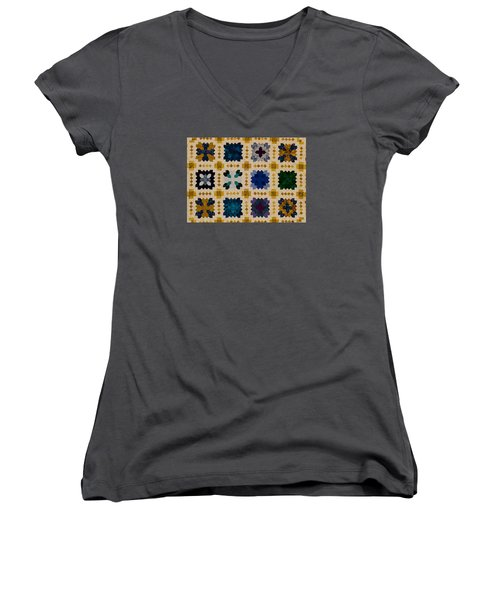 The Patchwork Of The Crosses Women's V-Neck (Athletic Fit)