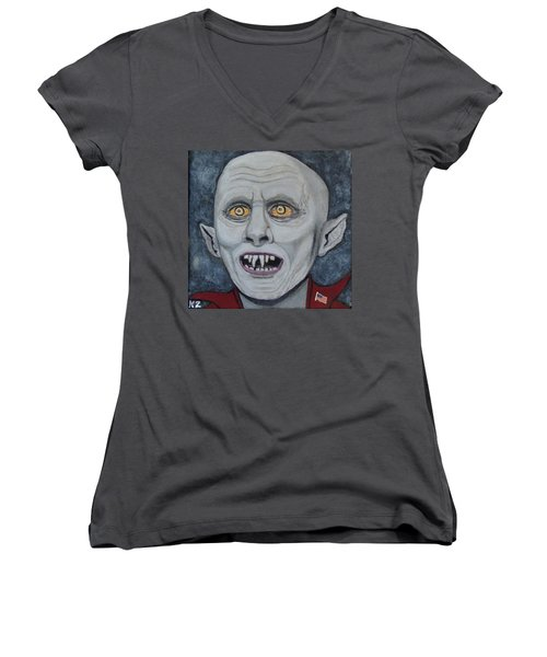 The Politician. Women's V-Neck T-Shirt (Junior Cut) by Ken Zabel