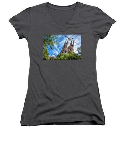 The Sagrada Familia Women's V-Neck
