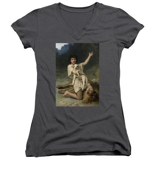 The Shepherd David Triumphant Women's V-Neck
