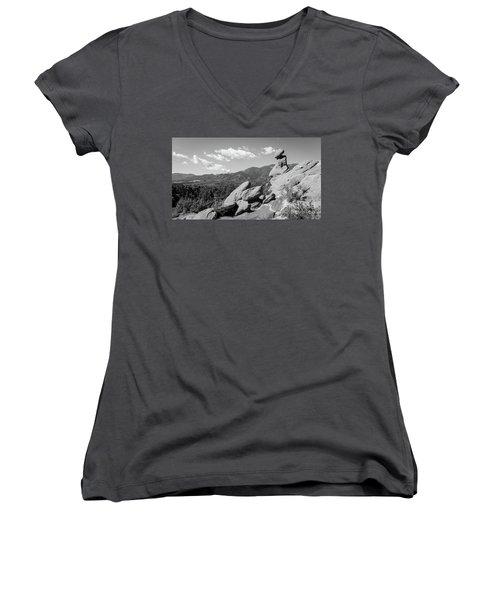 The Valley Below Women's V-Neck T-Shirt (Junior Cut)