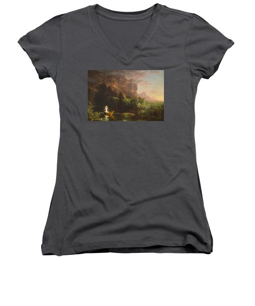 The Voyage Of Life, Childhood Women's V-Neck