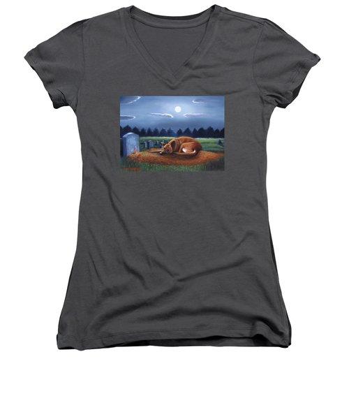 The Watchman Women's V-Neck T-Shirt (Junior Cut) by Gene Gregory