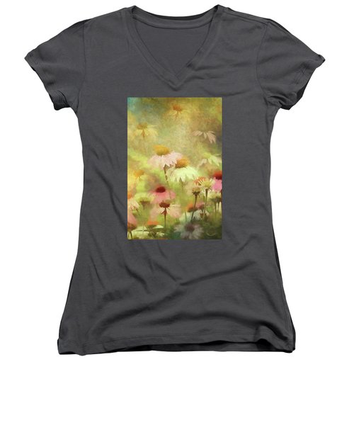 Thoughts Of Flowers Women's V-Neck (Athletic Fit)
