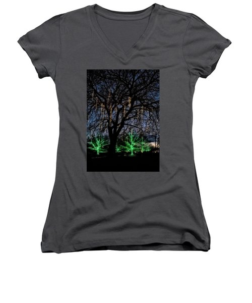 'tis The Season Women's V-Neck T-Shirt (Junior Cut) by Eduard Moldoveanu