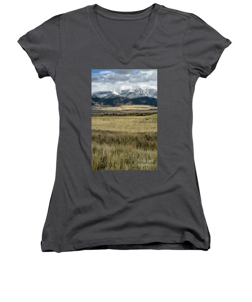 Tobacco Root Mountains Women's V-Neck (Athletic Fit)