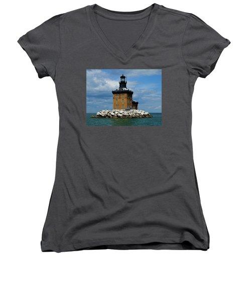Toledo Harbor Lighthouse Women's V-Neck