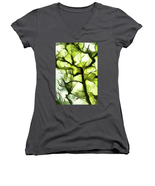 Towards The Sun Women's V-Neck (Athletic Fit)