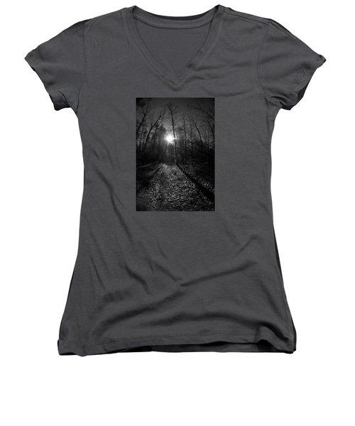 Tree Women's V-Neck T-Shirt (Junior Cut) by Simone Ochrym