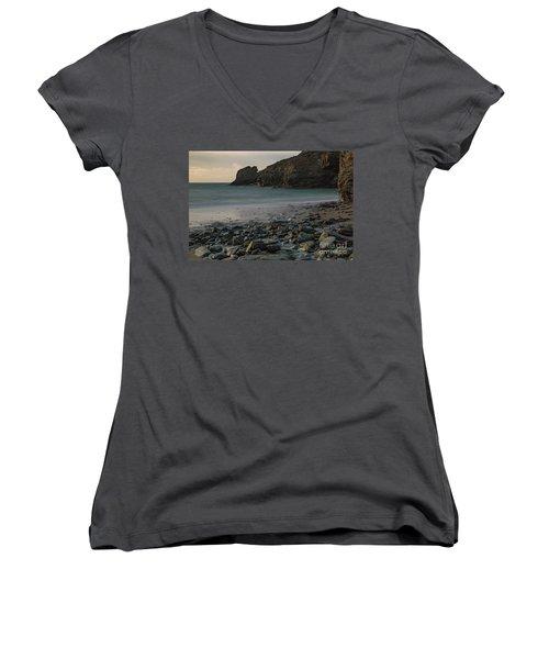 Trevellas Cove Women's V-Neck T-Shirt (Junior Cut) by Brian Roscorla