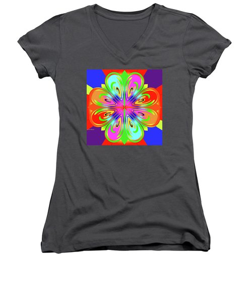 Tribute To Peter Max Women's V-Neck T-Shirt