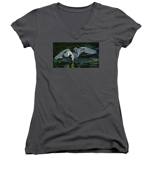 Tricolor Hunting Women's V-Neck T-Shirt