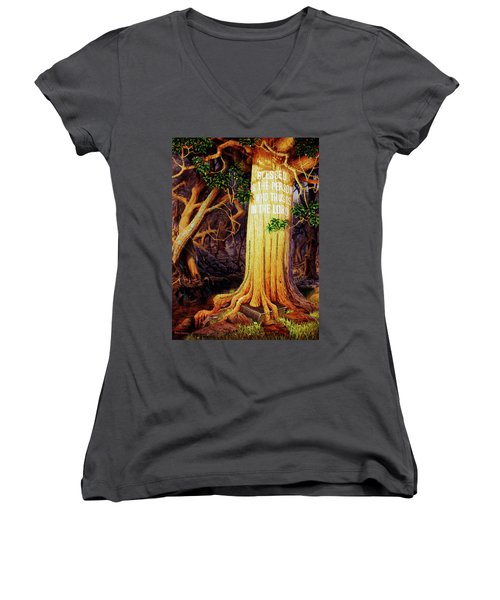 Trust In The Lord Women's V-Neck