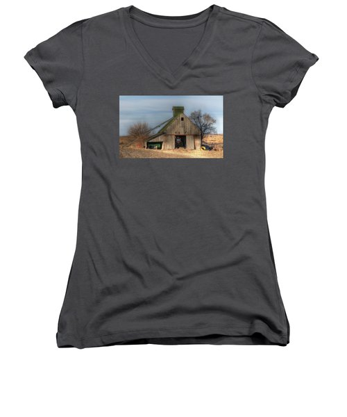 Tucked  Away In Rural Iowa Women's V-Neck T-Shirt