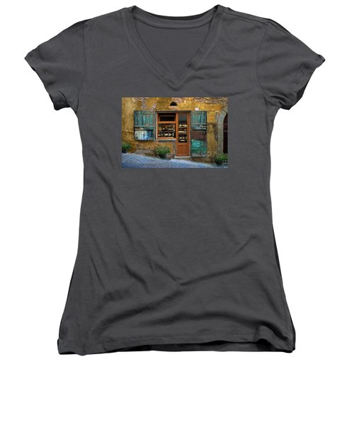 Tuscany Wine Shop 2 Women's V-Neck (Athletic Fit)
