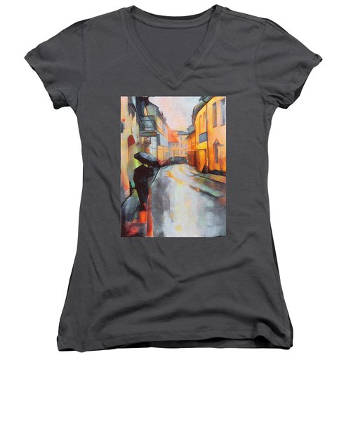 Under The Rain Women's V-Neck T-Shirt