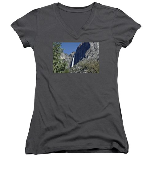 Upper Yosemite Falls Women's V-Neck (Athletic Fit)