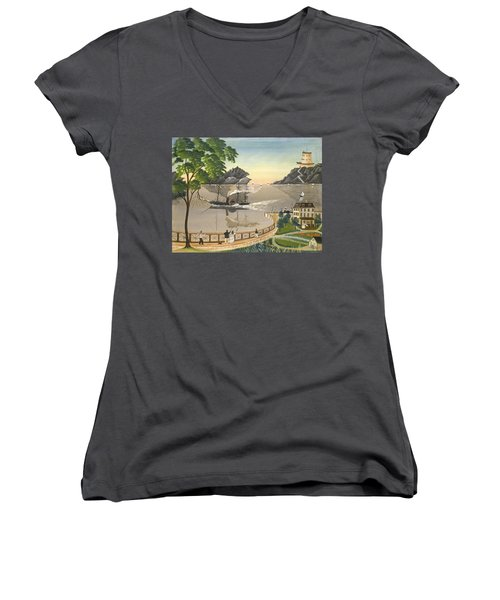 U S Mail Boat Women's V-Neck